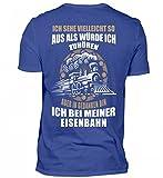 Hochwertiges Herren Shirt - Lokomotive Shirt · Geschenk für Eisenbahn-Fans · Zug · Züge · Spruch: in Gedanken Bin Ich