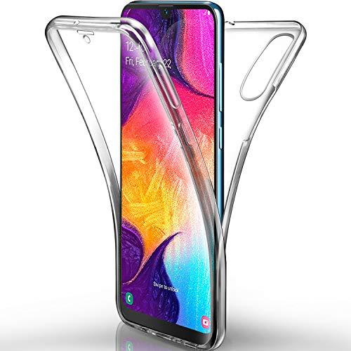 AROYI Samsung Galaxy A50 Hülle, Silikon Crystal Full Schutz Cover transparent TPU Ultra dünn Case Vorne & Hinten Schutzhülle für Samsung Galaxy A50