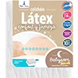 Babysom - Colchón Cuna Bebé Latex - 60 x 120 cm - Altura 14 cm -