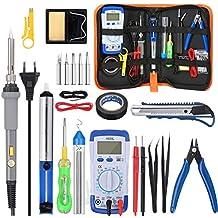 GOCHANGE 30 en 1 Eléctrico Soldador Kit de Estaño con Caja de Herramienta Temperatura Ajustable 200