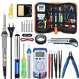 Saldatore Elettrico Professionale Kit GOCHANGE 20 in 1 Set di saldatura Temperatura di saldatura digitale 60W 220 ° C-450 ° C Regolabile