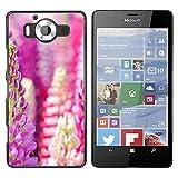 OB-star ( Flower Of Hyacinth Dolichos ) NOKIA Lumia 950 Colorful Peau Imprimé Protection Dur Retour Housse Shell