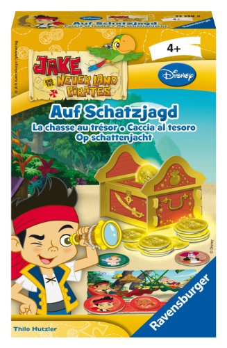 Ravensburger 23358 - Disney Jake and the Neverland Pirates, auf Schatzjagd - Mitbringspiel
