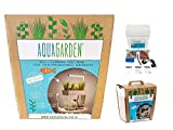 AquaGarden Set completo per Acquario, inclusa lampadaLED, autopulente, con mini giardino,ecosistema Innovativo & decorativo per la crescita delle piante e la cura dei pesci