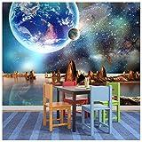 azutura Alien Landschaft Fototapete Planeten Platz Tapete Jungenzimmer Wohnkultur Erhältlich in 8 Größen Riesig Digital