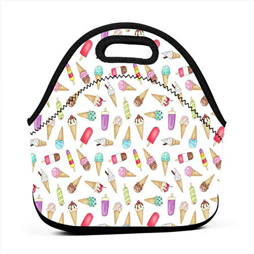 07f74340893d6 Clothes socks Portable Bento Lunch Bag,Ice Creams and Lollies - For Kids  Adult Thermal Insulated Tote Bags