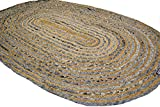 Best Braided Rugs - Oval Jute Denim Blue Rustic Braided 90x150cm mats Review