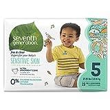 Seventh Generation Baby-Windeln frei, für empfindliche Haut, mit Animal Prints, Größe 5, 23Zählen (Verpackung kann variieren)