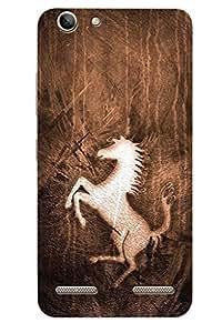 AMAN Horse Design 3D Back Cover for Lenovo Vibe K5 Plus