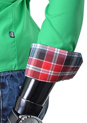 D&R Fashion Smart Hemd mit klassischem Kragen Slim Fit Italian Design Verschiedene Farben Grün