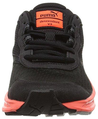 Puma Damen Descendant V3 Laufschuhe Black (Black/Fiery Coral/Gray Violet)