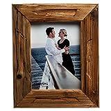 Cornice portafoto in legno invecchiato DRI14568, con profilo da 5 cm, 15 x 20 cm