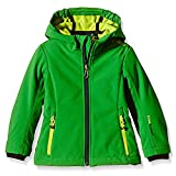 CMP Softshell-Regen-Outdoor-Jacke Kinder Fleece Kapuze viele Farben Wasserabweisend Mädchen Jungen Maria, Farbe:Irish-Limegreen, Größe:176