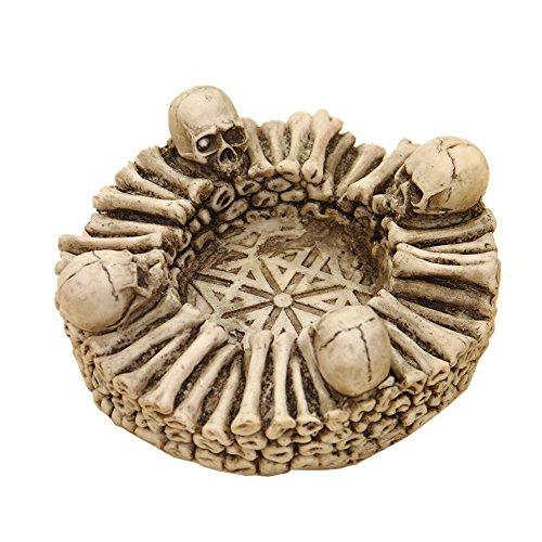 qees con calaveras y huesos para Artistical cenicero de resina decoración del hogar regalo perfecto 6* 2,4pulgadas lzt02