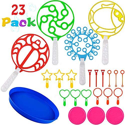Combight Bubble Wands Set, 26er Pack Bunte Bubble Wands Spielzeug-Set Riesen-Blase, die Zauberstab-Masse für Kinder Sommer Outdoor-Aktivität Party Favors (23 PCS) (Hochzeit Blase Zauberstäbe)