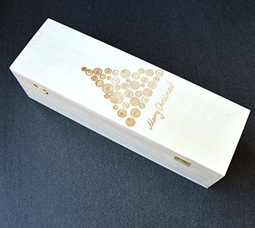 Scatola/Cassetta portabottiglie di vino_legno_personalizzabile_Natale