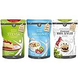 borchers bff Probierpaket Kristall: 1x Stevia 300g, 1x Erythrit 400g, 1x Xylit 300g
