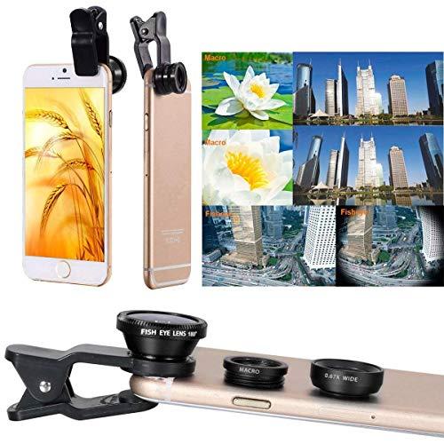AFAITH Kit de lentes 10-en-1, telescopio 8x para teleobjetivo / lente Fisheye / 2 en 1 Objetivo macro + mando a distancia + Selfie Stick + Mini trípode para iPhone 7/7 Plus / 6 / 6s Más, Samsung Galaxy S8 / S7 / Huawei Smartphones PA051