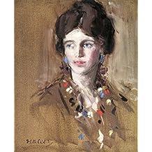 ODSAN Portrait Of A Young Lady - By Francis Campbell Bolleau (F.C.B.) Cadell - impressions sur toile 24x29 pouces - sans cadre