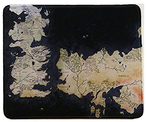 10x12 Inch Game of Throne World Map Mousepad Large Mouse Pad Mouse mat Waterproof,