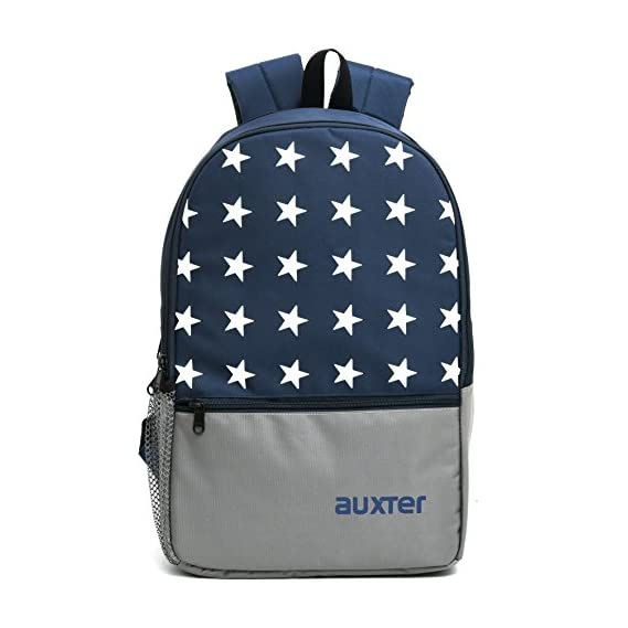 AUXTER STAR 33 Ltr Navy & Grey Casual Backpack