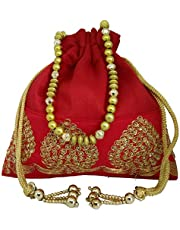 Giftag Potli bags for women hand crafted in 7 colors raw silk to suit all occasions