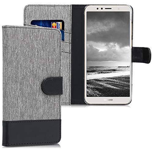 kwmobile Huawei Y6 (2018) Hülle - Kunstleder Wallet Case für Huawei Y6 (2018) mit Kartenfächern und Stand