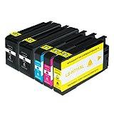 Logic-Seek Tintenpatronen kompatibel für HP 711 CZ129A-CZ132A, 5-er Pack