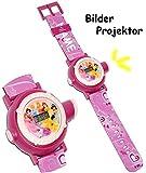 alles-meine.de GmbH Armbanduhr - LED Licht Projektion -  Disney Princess - Prinzessin  - incl. Name - als Projektor Kinderuhr DIGITAL / Lernuhr - Quarz Analog Lernuhr - Quarzuh..