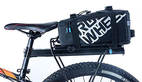 Roswheel Multifunktions-Radfahren Fahrrad Fahrrad-Panniers Rücksitz-Trunk-Tasche Sattel-Beutel Beutel Tragen Gepäck Paket Rack Panniers (kann auch als Umhängetasche verwendet werden), Schwarz