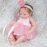Lebensechte Wiedergeburt Puppen Realistisches neugeborenes Babypuppe schlafendes Mädchen mit freiem Attrappe-Bester Geschenk für Weihnachten Realistische handgemachte Babys für Kinder spielt