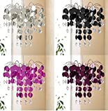 Chandelier Light Shade Pendant Fitting 32cm Diameter Chic Silver / Chic Plum / Black / Hot Pink (Plum)