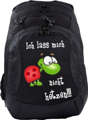 Mein Zwergenland Schulrucksack Teen Compact, 26 L, Schwarz, Ich laß Mich Nicht hetzen!