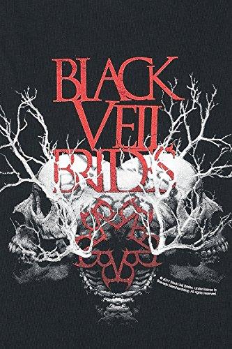 Black Veil Brides Branches Skull Top donna nero Nero