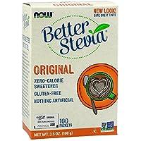 Stevia Extract (sucre naturel) sachet - 1 boite (100 sachets) - Now foods
