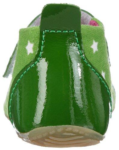 Living Kitzbühel Babyballerina Stern & Katze, Hi-Top Slippers fille Vert - Grün (green tea 436)