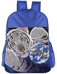 Tiger Earth Space Art Children School Backpack Carry Bag For Kids Boy Girl