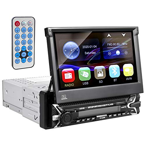 "Audiocore AC9100 Multimedia Autoradio LCD 7\"" Bildschirm Touchscreen 1080P MP5 AVI DivX Bluetooth handsfree RDS Digitalradio Fernbedienung 1 DIN"