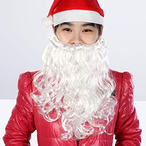 Amosfun Le père Noël a Une Barbe, Une Barbe, Une Vraie créativité, Le père Noël a des Cheveux frisés, Un Costume Barbu, Une fête, des vêtements du père Noël.