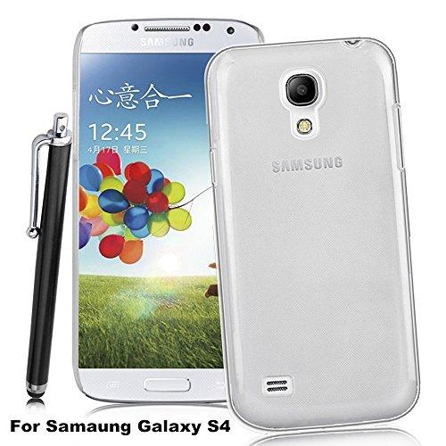 Apple iPhone 4 / 4S durchsichtig/kristallklar Schutzhülle inkl. Displayfolie & Touchstift Samsung Galaxy S4