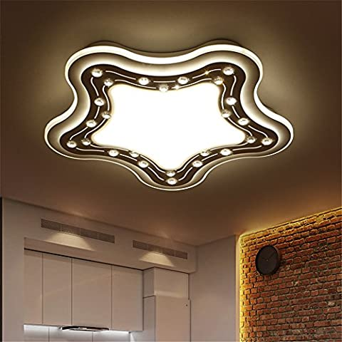 Larsure Vintage Modern Deckenleuchten Hae-sung LED Acryl Innen Deckenleuchte Sea Star Lounge Licht Schlafzimmer restaurant Tischlampe 3 Farben optisch, 520mm