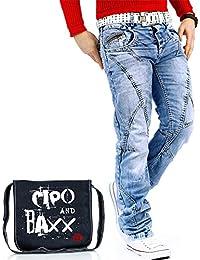 Cipo & Baxx Herren Jeans Denim Biker Streetwear Freizeit-hose Clubwear Bestseller