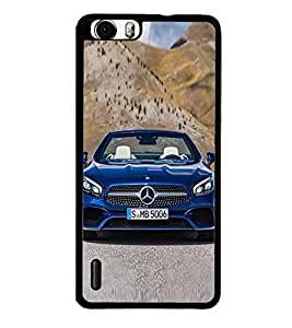 Blue Luxury Car 2D Hard Polycarbonate Designer Back Case Cover for Huawei Honor 6