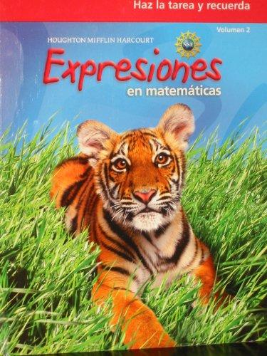 Math Expression, Grade 2 Homework & Remembering Workbook: Houghton Mifflin Harcourt Math Expression Spanish (Math Expressions 2009-2012) por Houghton Mifflin Harcourt