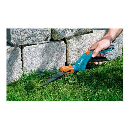 GARDENA Comfort Grasschere, drehbar: Rasenschere mit 360° drehbaren Schneiden für Rechts- und Linkshänder, Wellenschliff für exaktes Schneiden, antihaftbeschichtet, Komfortgriff (8734-20)
