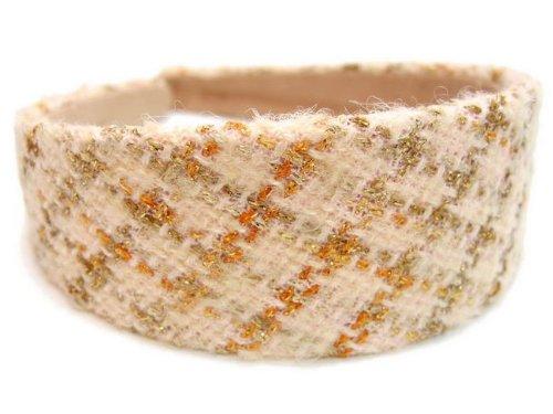 rougecaramel - accessoires cheveux - Serre tête/headband large laine matelassé - saumon