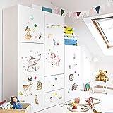Aquarell Wandaufkleber Schlafzimmer Schrank Kindergarten Wandaufkleber Für Kinderzimmer Wohnkultur Aufkleber Wandbild
