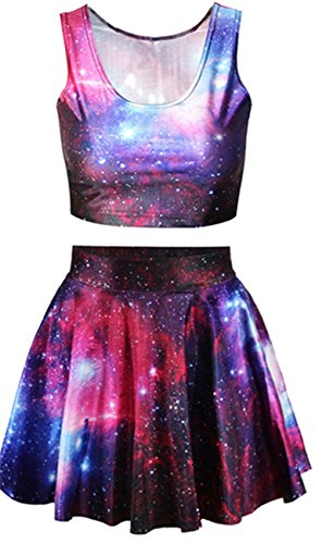 ninimour-fashion-womens-digital-print-reversible-crop-top-skirt-2-pieces-vintage-clubwear-party-s-m-