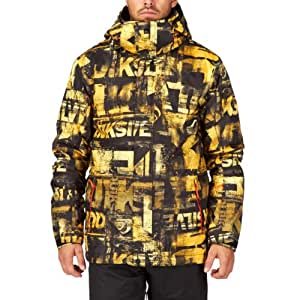 Quiksilver Men's Mission 10 k Aop Men's Jacket Yellow Jaune - leftover yellow Size:petit