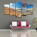 Whoops Modular Wall Art imagen lienzo Hd impresión 5 Panel deportes extremos bicicleta de montaña cartel moderno decoración del hogar 30 * 40 30 * 60 30 * 80 cm sin marco